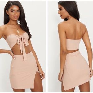 Nude Bandage Two Piece Set [PrettyLittleThing]